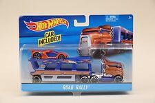 2015 Hot Wheels ROAD RALLY Semi-Truck Car Hauler Big Rig NEW IN BOX