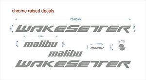 "malibu wakesetter boat Emblem 76""chrome + FREE FAST delivery DHL express - raise"