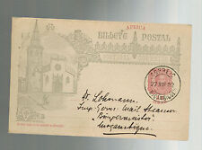 1902 Mozambique Postcard Anniversary cover local use German Ship Burgermeister
