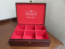 Bentley's Finest Teas Wood Box 6 Compartments, Storage container