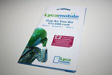 Lycamobile (UK) Trio SIM Card w/ £10- O2 towers (prepaid service while visiting)