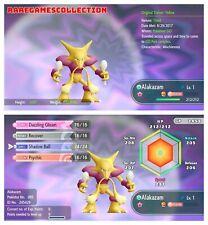 Pokemon Let's Go Pikachu & Eevee ✨ SHINY ✨ 6 IVs 1 LEVEL ALAKAZAM FAST DELIVERY