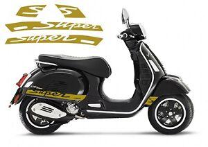 GTS SUPER STRIPE DECALS  - FITS GT & GTS 125 250 300 GOLD
