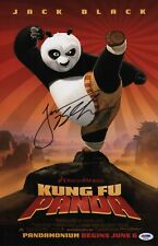 JACK BLACK SIGNED KUNG FU PANDA 11X17 MOVIE POSTER PSA COA AD48196