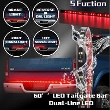 "60"" White Red LED Strip Truck Tailgate Reverse Brake Turn Signal Tail Light Bar"