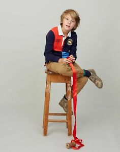 Joules Boys Try Rugby Shirt  - French Navy - 5Yr
