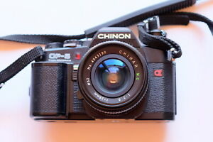 Chinon CP-5, 28mm Lens, Nissin flash and camera bag.