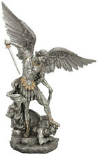 St. Michael Statue, Pewter Style Finish, 29""
