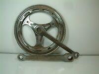 Vintage - Peugeot Chromed Cottered Chainset 46 Teeth 170 mm  Crankarms