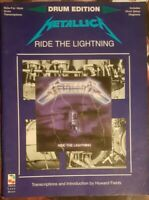 Metallica Ride the Lightning for Drums Sheet Music Lars Ulrich 8 Rock Songs Book