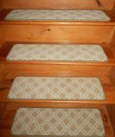 14 Step  9'' x 30'' Stair Treads  100% Wool Carpets