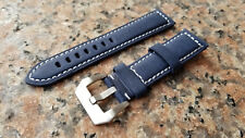 22mm Navy Blue XL Extra Long Genuine Leather Calf watch Band, Strap orient mako