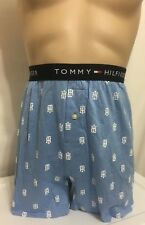 Tommy Hilfiger Button Fly Knit Boxer Large 36-38  Lite Blue TH  (3162)