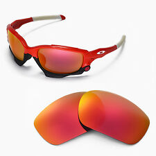 ew Walleva Fire Red Replacement Lenses For Oakley Jawbone Sunglasses