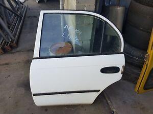 TOYOTA COROLLA AE101 LEFT REAR DOOR WHITE