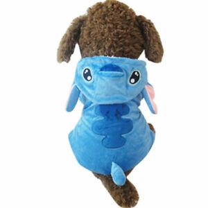 Pet Dog Clothes Stitch Coat Puppy Cat Cartoon Costume Winter Xmas Gift New