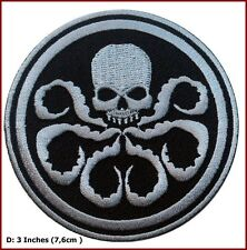 Captain America HYDRA/Silver Skull  Embroidered Movie 3 inch Patch