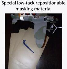 3x A4 Sheets Of Masking Material Model Painting Airbrush Gyro Cut Tamiya Rc