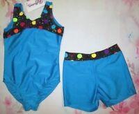 NEW Girls Size 6-7-8 SC IC Leotard Shorts Sets Child Dance Gymnastics 2 Choices!