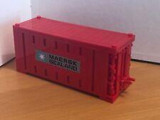 LEGO Maersk Line TRENO NAVE CONTAINER quadrato rosso mattone