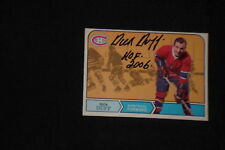 HOF DICK DUFF 1968-69 O-PEE-CHEE SIGNED AUTOGRAPHED CARD #161 CANDIENS