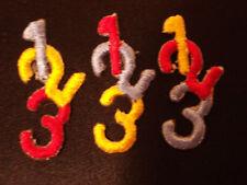 """Numbers """"1 2 3"""" Embroidery Applique Patch Emblem Lot (60 Dozen) - Childrens"""