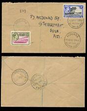 BRITISH SOLOMON ISLANDS REGISTERED...KG6 1948 to FIJI
