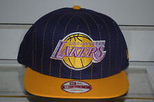 LOS ANGELES LAKERS NBA BASKETBALL Snapback cap team pinstripe New Era ONE SIZE