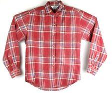 woolrich womens size 12 vintage button front plaid cotton blouse top shirt