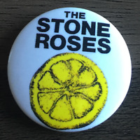 THE STONE ROSES - BUTTON BADGE - ENGLISH INDIE ROCK BAND - IAN BROWN - 25MM PIN