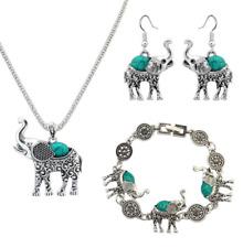 Sets Jewelry Pendant Betsy Johnson Elephant Turquoise necklace earring Bracelet