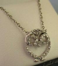 NEW Sterling Silver Diamonds Owl Necklace High Quality from Dillard's