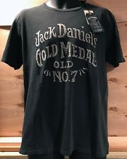 LUCKY BRAND Men's Jack Daniels Gold Metal Graphic S/S Cotton T Shirt Large New
