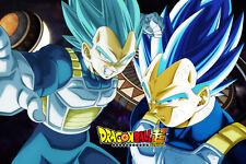 Dragon Ball Super Poster Vegeta Blue & Ultra Blue 12inx18in Free Shipping
