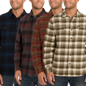 NEW!!! Mens Orvis Big Bear Heavy Weight Flannel Long Sleeve 100% Cotton Variety
