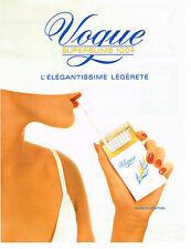 PUBLICITE ADVERTISING 094  1990  VOGUE  cigarettes                      140914