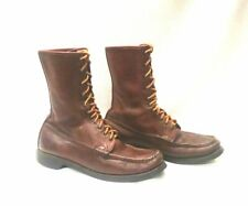 9.5C  WC Russell Moccasin Leather Hunting Hiking Work Boots Men's 9.5C