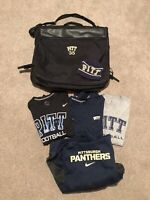 PITTSBURGH PANTHERS FOOTBALL GAME WORN USED TRENT NEAVIN GARMENT LOT SHIRT & BAG