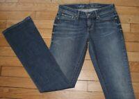 LEVIS 570 DEMI CURVE Jeans pour Femme W 24 - L 32 Taille Fr 34  (Réf #Y007)