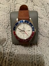 """Tiger Concept White 6542 Style Dial """"Pan Am"""" Pepsi Automatic Homage GMT Watch"""