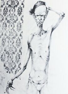 MAN SMOKING in PANTS Grotesque UGLY GICLEE Adolfo Arenas Alonso Limited Edition