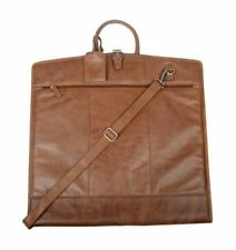 Cotehele Rustic Brown Leather Suit Carrier Business Travel Garment Bag