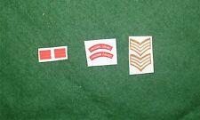 1/6 Segunda Guerra Mundial británica Lancashire fusliers Títulos De Hombro Parche juego de lote