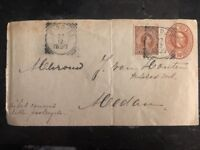 1897 Bindjei Netherlands Indies Uprated Cover To Medan
