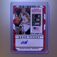MUSTAPHA HERON 2020-21 Panini Contenders Draft Picks Red Foil Auto #111 RC