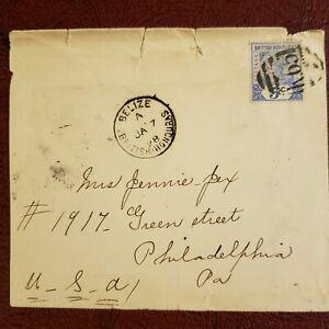 British Honduras 1898 Cover Scott 41; SG 54 (see description)