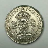 Dated : 1943 - Silver Coin - One Florin - King George VI - Great Britain