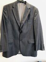 Mens MARKS & SPENCER Italian Pure New Wool Sports Jacket Blazer Grey 42'' Immacu