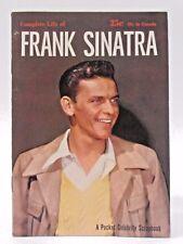 1955 COMPLETE LIFE OF FRANK SINATRA Magazine book  HIGH GRADE condition