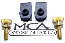 BOSS SNOW PLOW FRONT COVER BRASS THUMB SCREW HARDWARE KIT MSC05077 HDW05574